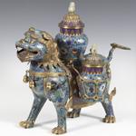 Perro Foo. China S XX. en jade. Vendido en 3000€