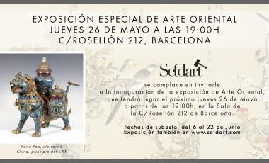 SETDART inaugura la exposición de la subasta de Arte Oriental el 26 de Mayo