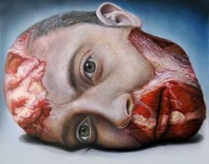 Miguel Scheroff. Crude Banalilty II . Serie Flesh Vanitas