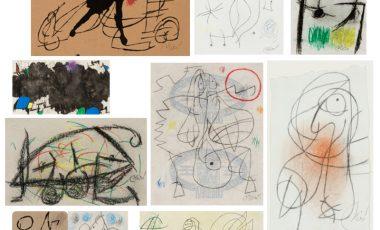 Subasta colección especial de dibujos de Joan Miró