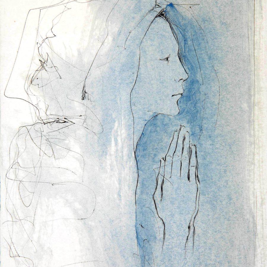 "Lote: 35053186. MONTSERRAT GUDIOL  ""Mujer orante""."