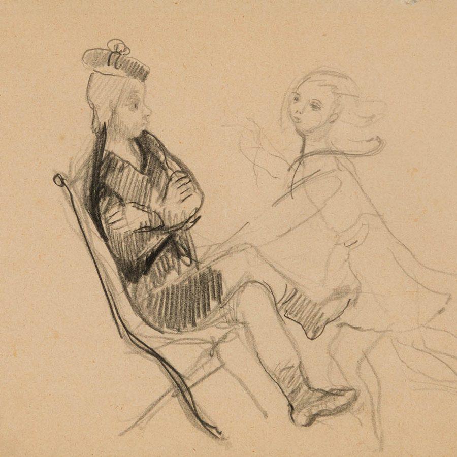 """35197420: """"BALTHUS""""""""Deux enfants, jardin du Luxembourg"""", París, ca. 1925."""