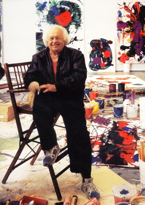 Sam Francis en su estudio.