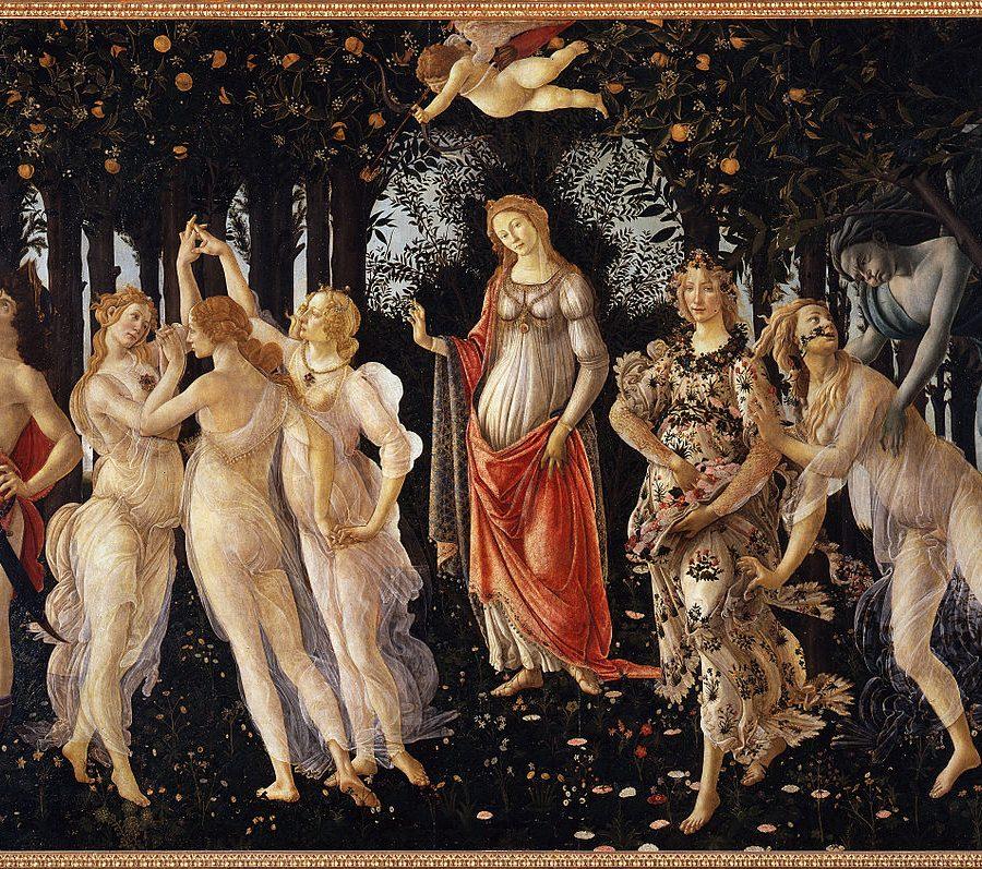"""""""La primavera"""" de Sandro Boticcelli se puede admirar en la galería de los Uffizi en Florencia."""