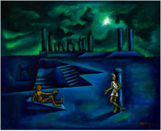 """""""Capvespre"""", 1951. Joan Ponç. Subastado en Setdart."""