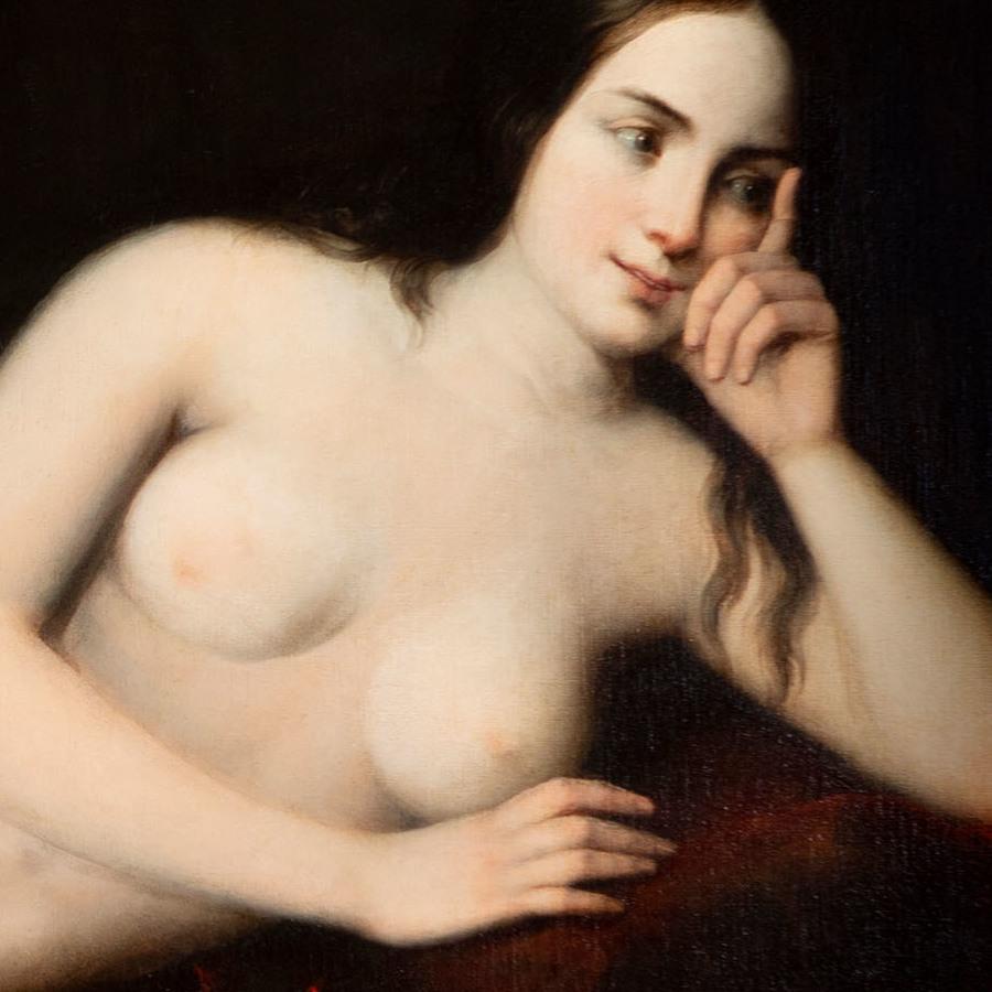 "ANTONIO MARIA ESQUIVEL Y SUÁREZ DE URBINA (Sevilla, 1806 – Madrid, 1857). ""Maja desnuda"".Fecha subasta 27 de Mayo."