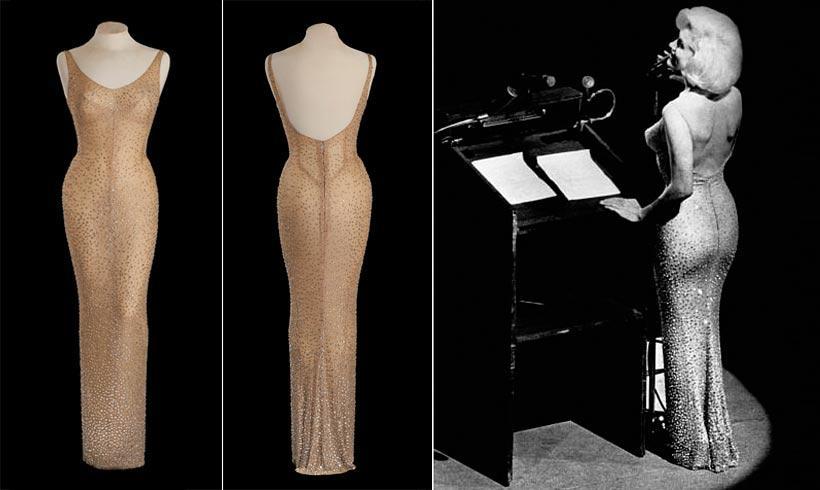 Julien´s acution subastó  el icónico vestido con el que Marilyn Monroe cantó el 'cumpleaños feliz' a John F. Kennedy.