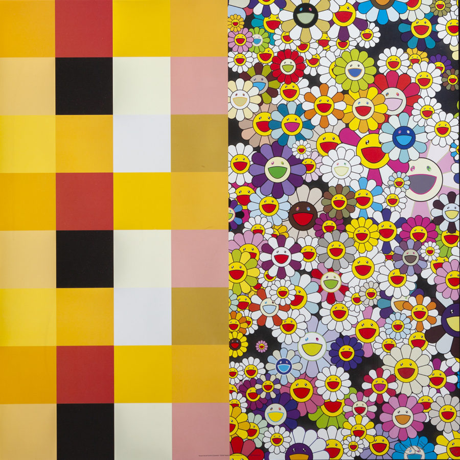 """Lote: 35186611. TAKASHI MURAKAMI (Tokio, 1962) """"Acupuncture/Flowers (Checkers)"""", 2008."""