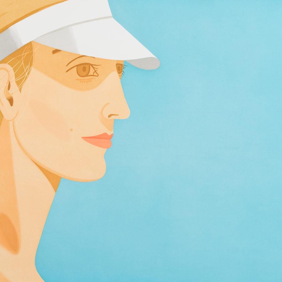 """""""White visor"""" de Alex Katz que llegó a 7500€ en Setdart.com  """"White visor"""