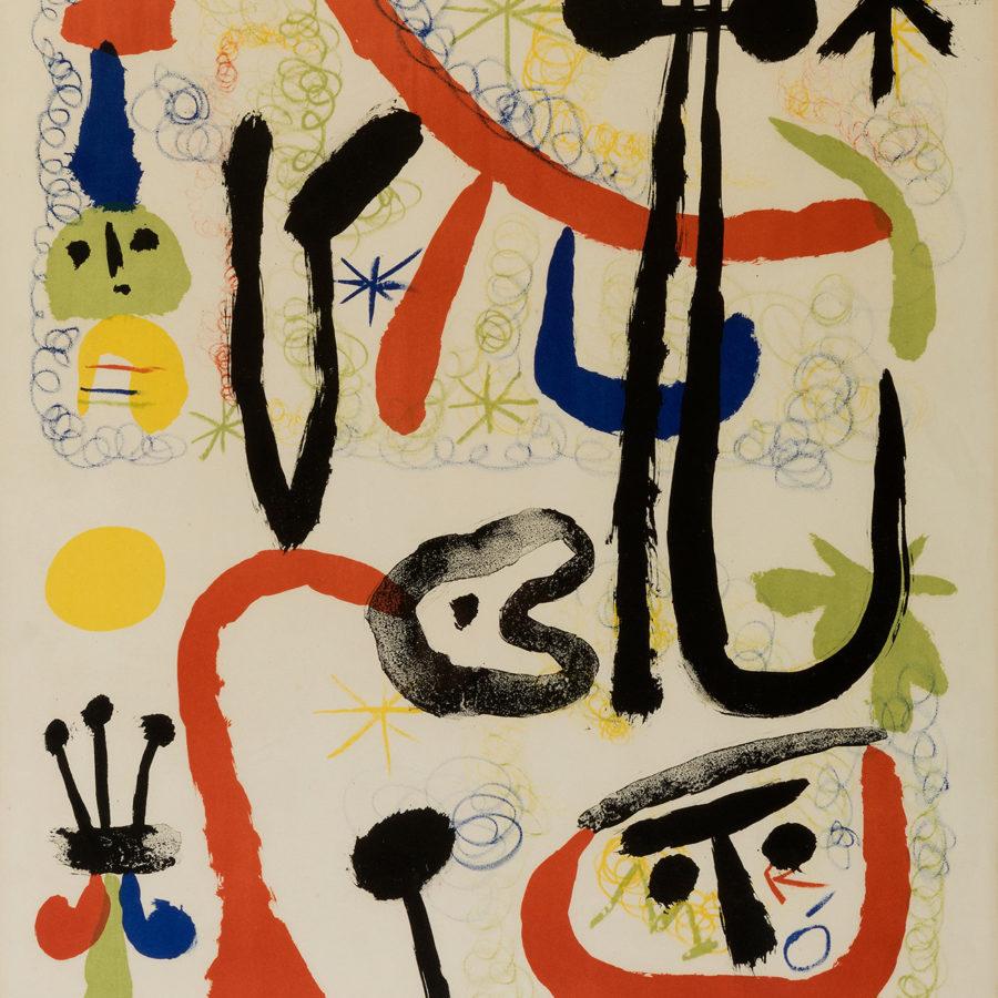 Una litografía de Miró rematada en Setdart por 5500€.