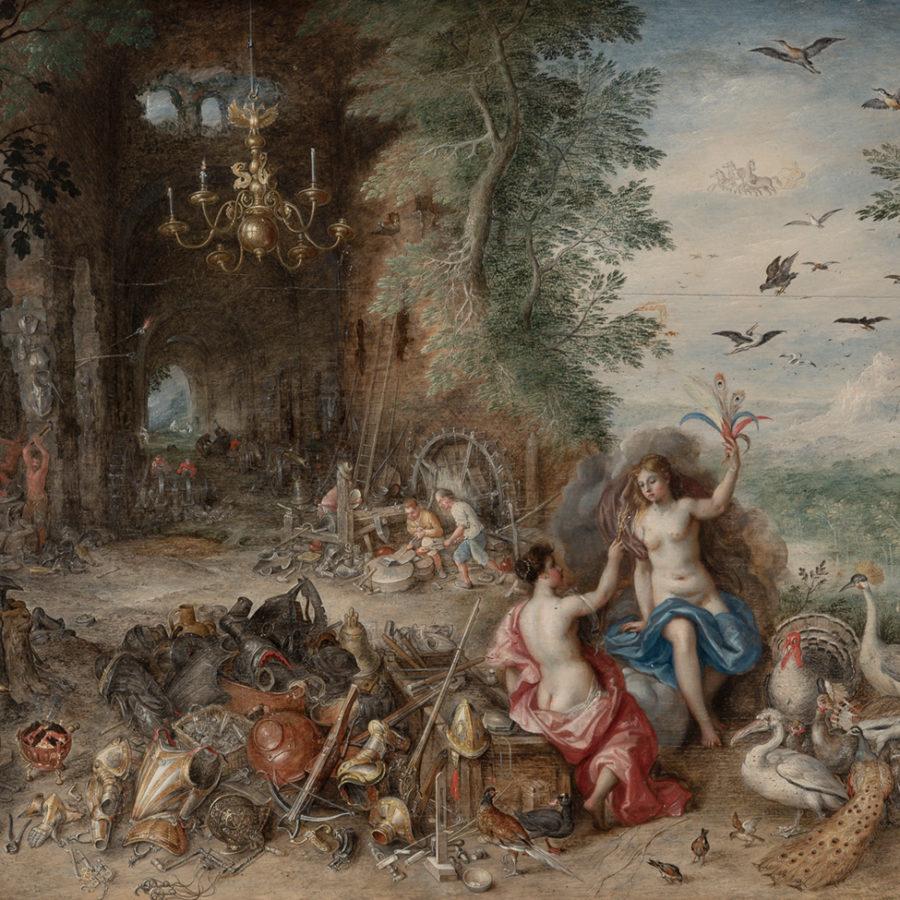 """Lote: 35138690: """"Alegoría del aire y del fuego"""". de Jan Brueghel """"el Joven"""" y Van Balen. En Venta Directa en Setdart.com."""