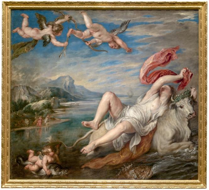"""Tiziano """"El rapto de Europa""""."""