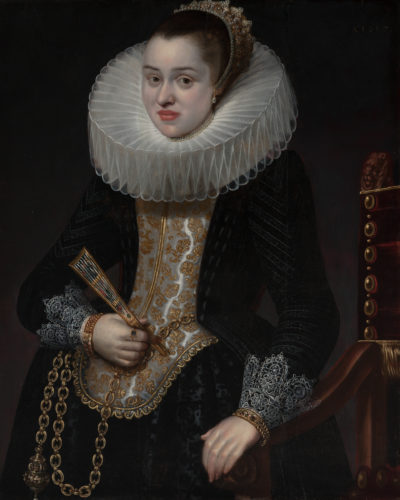 """Lote: 35011359. CORNELIS DE VOS ( Hulst, ca. 1584- Amberes, 1651), """"Retrato de dama"""", 1617."""