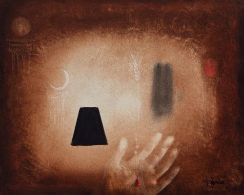"Lote: 35103769. ANTONI TÀPIES PUIG (Barcelona, 1923 - 2012). ""Mano con espiga"", Ripoll, 1953."