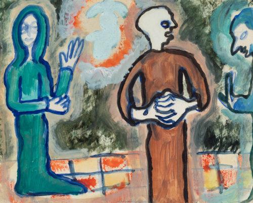 "Lote 35103779.  JOAN PONÇ BONET (Barcelona, 1927 – Saint-Paul-de-Vence, Francia, 1984). ""Personajes bíblicos"", 1946."