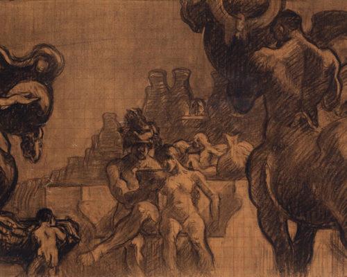 """Lote 35103792.JOSÉ MARÍA SERT (Barcelona, 1874 - 1945). """"Centaures i figures"""". París, ca. 1913."""