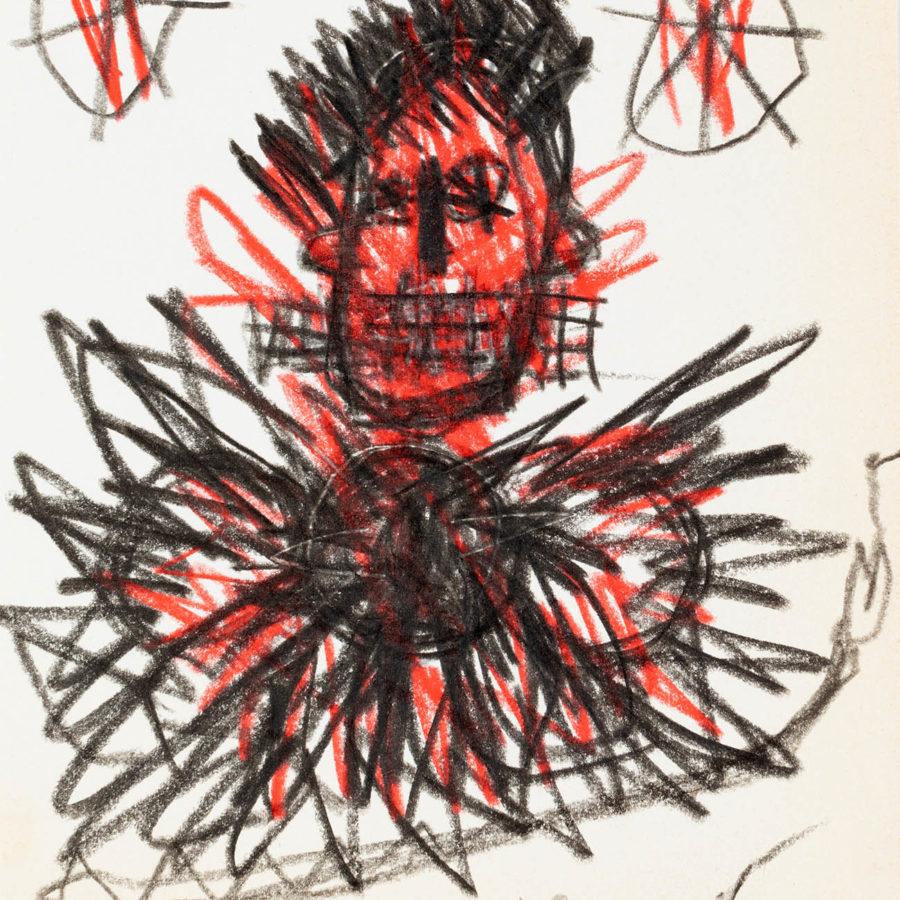 Lote: 35130542.  JEAN-MICHEL BASQUIAT (Nueva York, EEUU, 1960 - 1988). Sin título, 1981.