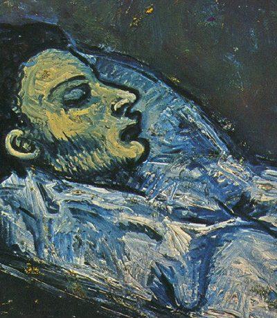 Casagemas retratado por Picasso en su lecho de muerte.