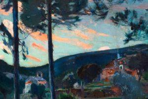 «El Pascol, Caldes de Montbui», por Joaquim Mir. En subasta.