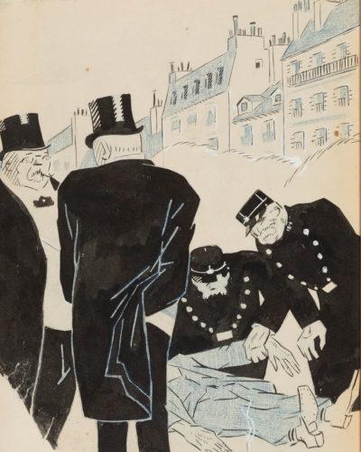 """Lote: 35110582. JUAN GRIS (Madrid, 1887 – Boulogne-sur-Seine, Francia, 1927). """"Les suicides"""", 1909."""