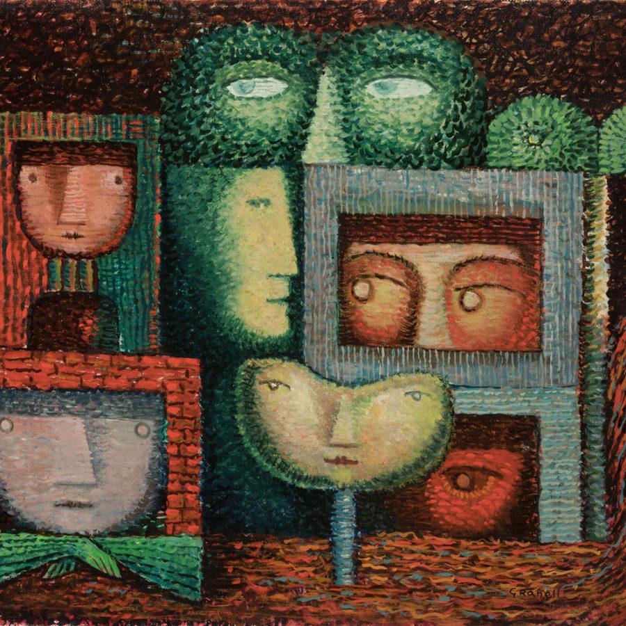 Lote: 35201817. EUGENIO FERNÁNDEZ GRANELL (A Coruña, 1912 ? Madrid, 2001).Sin título. Época de Nueva York, 1955.