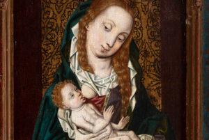 Virgen de la Leche, seguidor de Rogier van der Weyden.