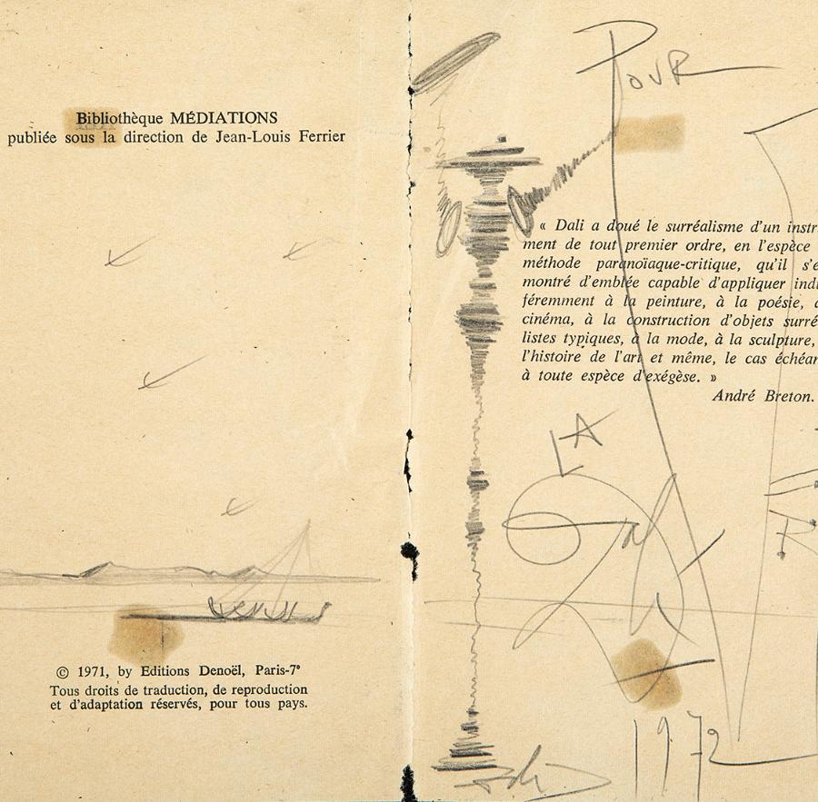 """Lote: 35266235.  SALVADOR DALÍ I DOMÈNECH (Figueres, Girona, 1904 – 1989). """"Pour la verité"""", 1972."""