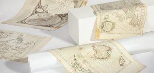 Colección cartográfica: grabados iluminados del siglo XVIII